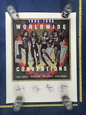 🔥Vintage KISS 1995-1996 WORLDWIDE CONVENTIONS Plate Signed Lithograph RARE!