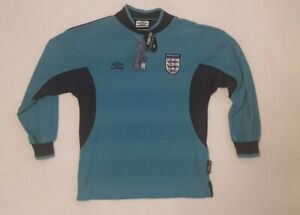 BNWT RARE England 1999-2000 Goalkeeper Shirt SIZE 146CMS WITH TAGS VINTAGE