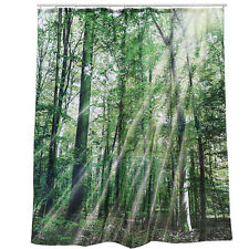 180CM FOREST SHOWER CURTAIN LUXURY GIFT WATERPROOF VINYL PVC BATHROOM NOVELTY
