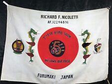 Vintage Us Air Forces 7th Fighter Bomber Squadron Misawa Japan Presentation Flag