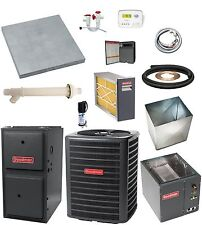 MOST COMPLETE SYSTEM 96% 60k btu Gas Furnace and 2-1/2 Ton 13 SEER AC & EXTRAS