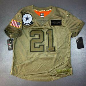 100% Authentic Ezekiel Elliott Nike Cowboys Salute to Service Limited Jersey M