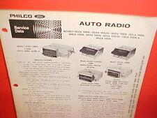 1970 FORD MUSTANG BOSS 302 429 RANCHERO COUGAR PHILCO AM RADIO SERVICE MANUAL 70