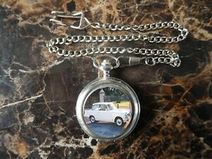 TRIUMPH HERALD CHROME POCKET WATCH WITH CHAIN (NEW)