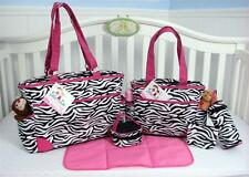 SoHo Collection, Pink Zebra 6 pieces Diaper Bag Set