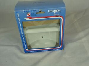 NOS Liberty White Recessed Soap Dish with Grab Bar D398W