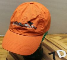 MONTANA MOTOCROSS HAT ORANGE ADJUSTABLE IN EXCELLENT CONDITION