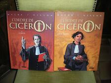 L'ORDRE DE CICERON - LOT DES 2 PREMIERS TOMES DONT 1 EDITION ORIGINALE - GILLON