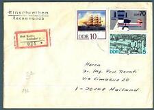 GERMANIA - DDR - 1987 - Lettera affrancata per 85 p. con francobolli del periodo
