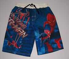 THE AMAZING SPIDER-MAN MOVIE SPIDERMAN  BOYS SWIM TRUNKS SHORTS SIZE 4/5 NWT!