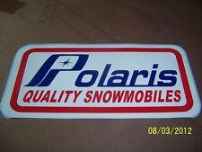 "1-Vintage Looking POLARIS QUALITY SNOWMOBILES Sticker (New Vinyl) 4""X 8.5"""