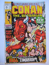 2 Vintage Old Collectible Marvel Comic Books Conan 10 FN & 11 VGFN