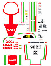 #20 GAGGIA Porsche 956-962 1/64th HO Scale Slot Car Decals