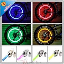 2pcs Bike Car Tire Wheel Valve Cap LED Bicycle Light Neon Lamp [M] (Red) CA