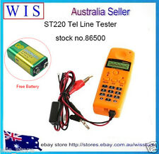 ST220 Mini Tel Telephone Line Network Cable Tester Meter Dial/Talk w Battey86500