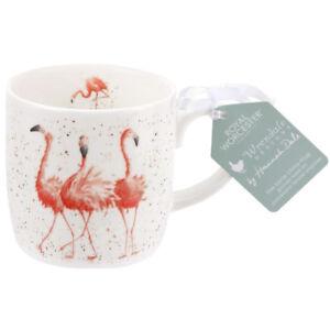 Royal Worcester Wrendale Pink Ladies Flamingo Fine Bone China Mug