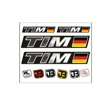 """Tim"" Auto Fahrrad Motorrad Kart Helm Fahrername Aufkleber Sticker Flagge"