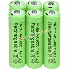 6x AA battery batteries Bulk Nickel Hydride Rechargeable NI-MH 3000mAh 1.2V Gre