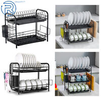 2/3 Tier Dish Drainer Holder Drying Rack Dish Rack Kitchen Storage Space Saver
