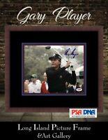 Gary Player Golfer Signed Photo  8x10 NEWLY CUSTOM FRAMED PSA/DNA COA