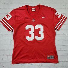 Vintage Ohio State Buckeyes Nike #33 Red Jersey Shirt Womens M Medium