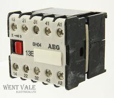 AEG SH04-910-302-182-58 -16a 13E 4 Pole Mini Control Relay 110vac Coil Un-used
