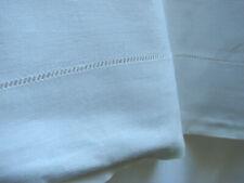 """Vintage Tablecloth Linen Crisp  66x112""""  Plain LOT 2"""