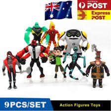 9PCS Lot Ben 10 Cartoon Kids Action Figures Doll Play Set Cake Topper Boy Toys
