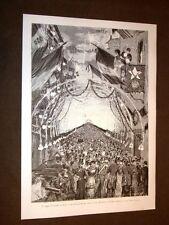 Re Umberto I Savoia e Regina Margherita Sicilia nel 1881 Illuminazione a Palermo