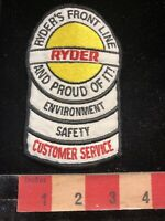 Vtg RYDER TRUCK PATCH Environment Safety Customer Service Advertising Patch 00MN