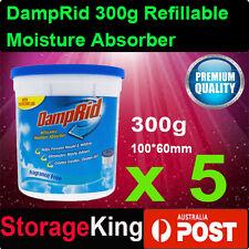 5x DampRid 300g Refillable Moisture Absorber Mini Air Dehumidi Quite Bathroom AU