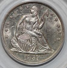 1857 Seated Liberty Half Dollar PCGS MS62