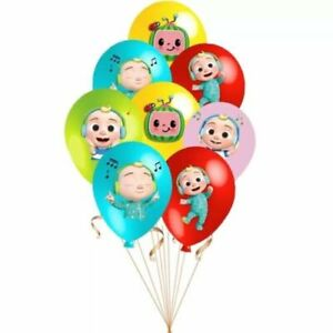 "10 X 12"" COCOMELON Multi Colour Latex Printed Balloons Birthday Party"