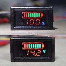 waterproof LED Indicator Battery capacity Tester voltmeter car Lead-acid Lithium