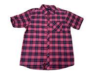 Billabong Womens Size 14 Plaid Collared Short Sleeves Button Up Shirt