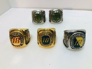 Bobby Labonte Ring Paperweights  Interstate Batteries 1997 & 1999 FREE SHIP