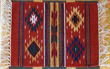 Wool Placemat 37-HIM15X20 Southwest Southwestern Geometric Design