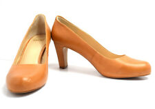 Noe Womens High Heel Pumps Court Shoes Leather Tan Brown UK 8 / EU 41