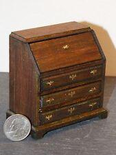Dollhouse Miniature Desk Slant Top Walnut C 1:12  inch scale K39 Dollys Gallery