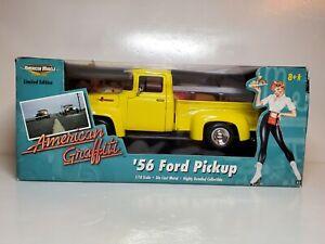Ertl American Muscle 1:18 American Graffiti '56 Ford Pickup Yellow 1956 Ltd E.