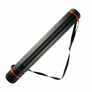 Extendable Telescopic Archery Arrow Back Shoulder Quiver Holder Tube + Strap