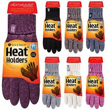 Heat Holders - Womens Winter Warm Cold Weather Knit Insulated Thermal Gloves