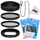 8in1 Kit Lens Cap  with keeper  Filter Adapter 52mm Filters for Sony RX100 VI