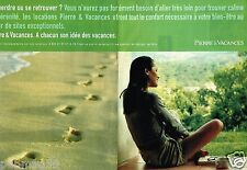 Publicité Advertising 2000 (2 pages) Les Locations Pierre & Vacances