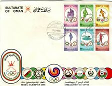 OLD ARABIA   * SULTANATE of OMAN   2  OLYMPIC COVERS  FIRST DAY