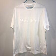Neil Barrett T Shirt Believe White Mens XL Short Sleeve