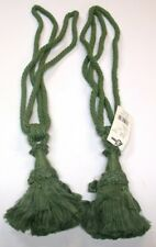 "(2) Conso Rope Curtain Tiebacks ~ Pistaschio Green ~ 30"" L / 6"" Tassel **NEW**"