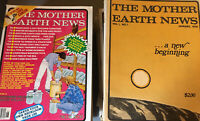 1970's + MOTHER EARTH NEWS MAGAZINE, Lot of 32 Issues Prepper Homestead Survival