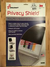 """Skilcraft Privacy Shield 22.0W 22"""" Filter Notebook LCD Monitors 7045-01-570-8895"""