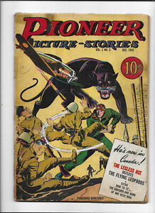 PIONEER PICTURE STORIES #5 [1942 GD+] WAR COVER!
